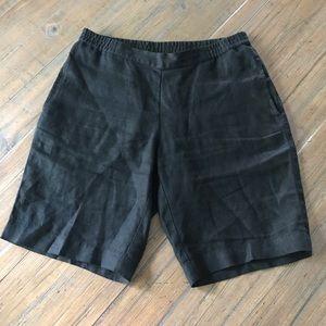 J. Jill XS black linen shorts